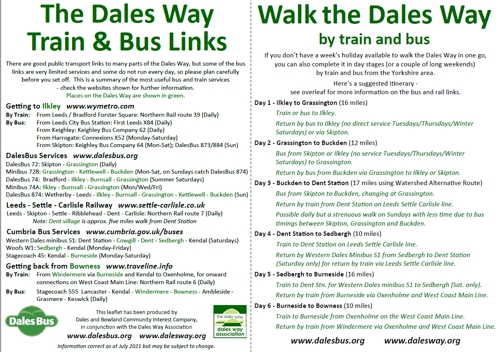 Dales Way Train & Bus Links
