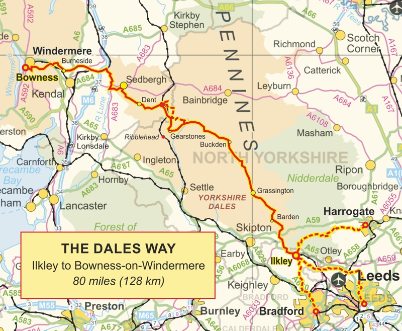 Overview of the Dales Way Route & its Link Routes